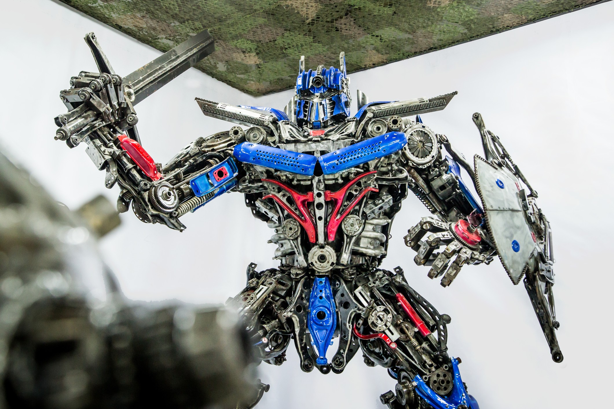 Optimus Prime scrap art
